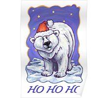 Polar Bear Christmas Card Poster