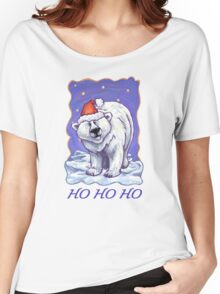 Polar Bear Christmas Card Women's Relaxed Fit T-Shirt