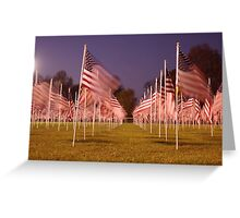 Flags waving in the wind Greeting Card