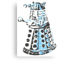 Dalek Graffiti Canvas Print