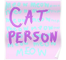 CAT PERSON Poster