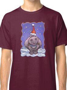 Hippopotamus Christmas Classic T-Shirt
