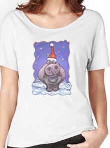 Hippopotamus Christmas Women's Relaxed Fit T-Shirt