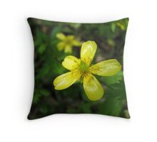 Springtime Buttercup Throw Pillow