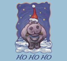 Hippopotamus Christmas Card Kids Clothes