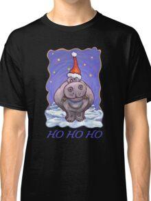 Hippopotamus Christmas Card Classic T-Shirt