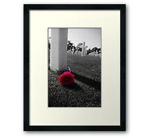 The memory lives on Framed Print