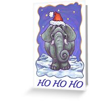 Elephant Christmas Card Greeting Card