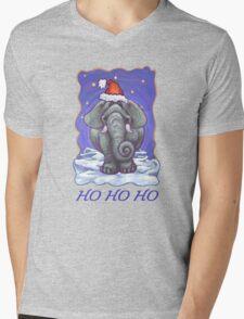 Elephant Christmas Card Mens V-Neck T-Shirt