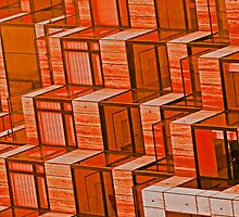 Orange Architecture Abstract - iPhone Case by Buckwhite