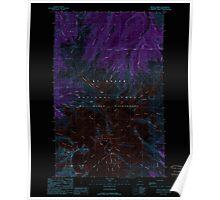 USGS Topo Map Washington State WA Mount Baker 242474 1989 24000 Inverted Poster
