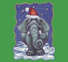 Elephant Christmas One Piece - Short Sleeve