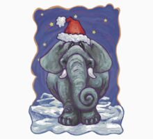 Elephant Christmas One Piece - Short Sleeve
