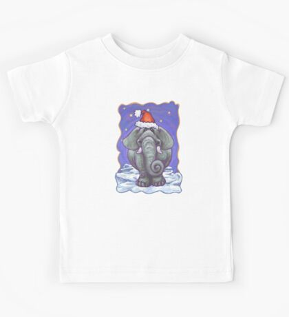 Elephant Christmas Kids Tee