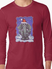 Elephant Christmas Long Sleeve T-Shirt