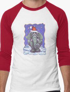 Elephant Christmas Men's Baseball ¾ T-Shirt