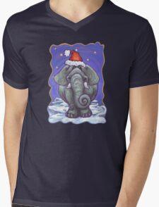 Elephant Christmas Mens V-Neck T-Shirt