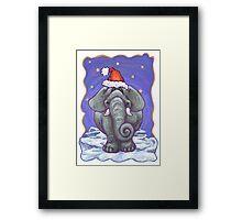 Elephant Christmas Framed Print