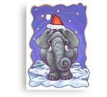 Elephant Christmas Canvas Print