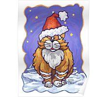 Ginger Cat Christmas Poster