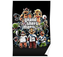 Grand Theft Mario Poster