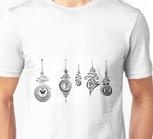 Unalome Medley Handmade Meditations - Buddhist Symbol of Enlightenment Journey Unisex T-Shirt