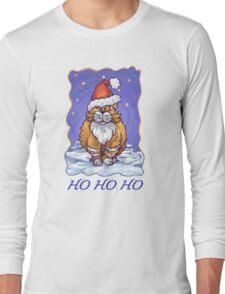 Ginger Cat Christmas Card Long Sleeve T-Shirt