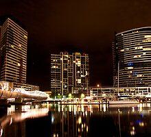 Melbourne Docklands at Night 6530 by Kayla Halleur