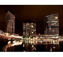 Melbourne Docklands at Night 6530 Photographic Print