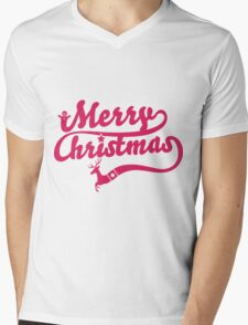 Merry Christmas Mens V-Neck T-Shirt