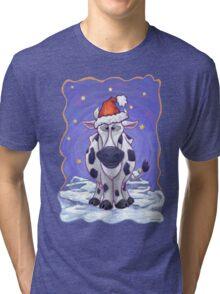 Cow Christmas Tri-blend T-Shirt