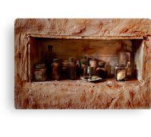 Old medicine cabinet Canvas Print