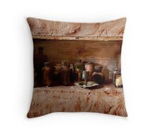 Old medicine cabinet Throw Pillow
