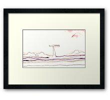 Land Line - 7 Framed Print
