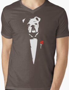 The Dogfather Mens V-Neck T-Shirt