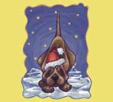 Hound Dog Christmas Kids Tee