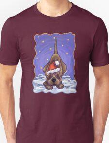 Hound Dog Christmas Unisex T-Shirt
