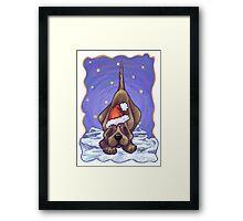 Hound Dog Christmas Framed Print