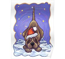 Hound Dog Christmas Poster