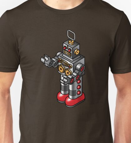 Tin toy robot Unisex T-Shirt