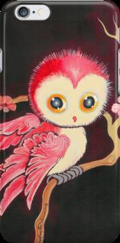 Sweet Red Owl by AngelArtiste
