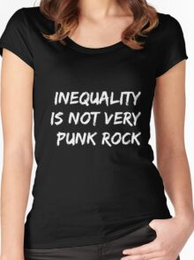 Inequality Is Not Very Punk Rock Women's Fitted Scoop T-Shirt
