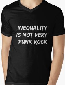 Inequality Is Not Very Punk Rock Mens V-Neck T-Shirt