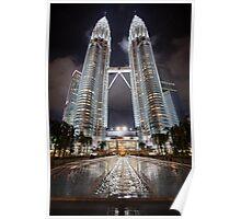 Petronas Towers by Night Poster