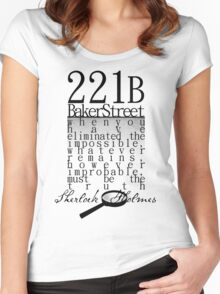221b: When you have eliminated the impossible-SH Women's Fitted Scoop T-Shirt