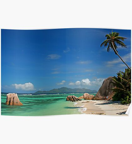 Anse Source D'argent in Seychelles Poster