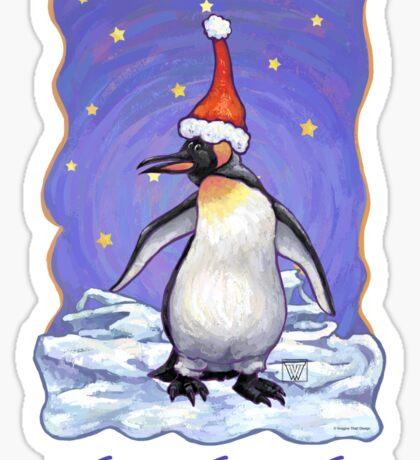 Penguin Christmas Card Sticker