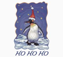 Penguin Christmas Card One Piece - Short Sleeve