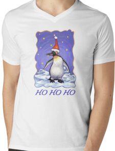 Penguin Christmas Card Mens V-Neck T-Shirt
