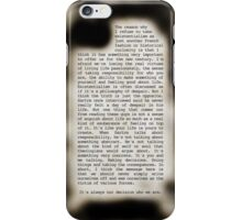 Existentialism iPhone Case/Skin